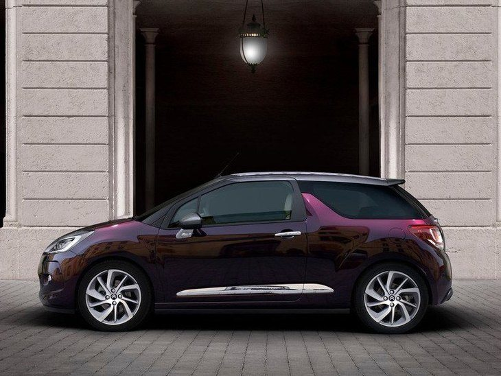 Citroen DS3 Cabrio New Model Purple Exterior Side