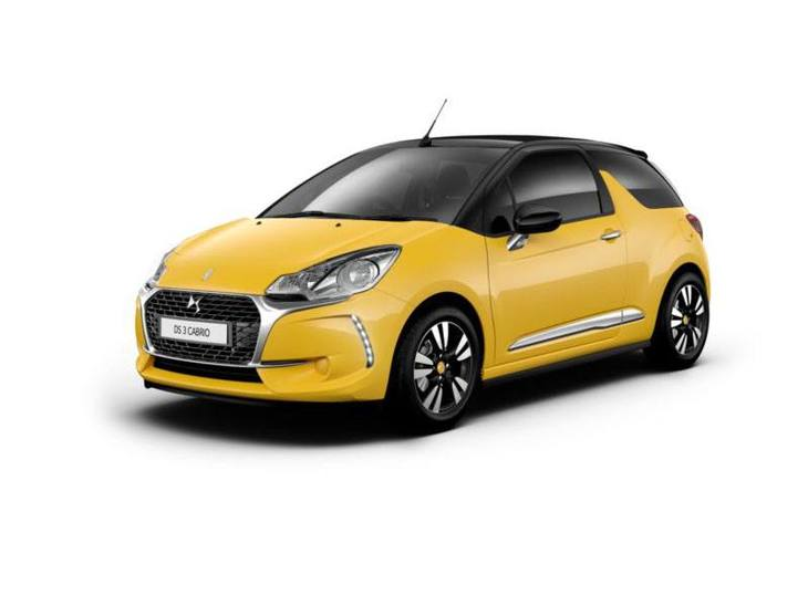 Citroen DS3 Cabrio New Model Yellow Exterior White