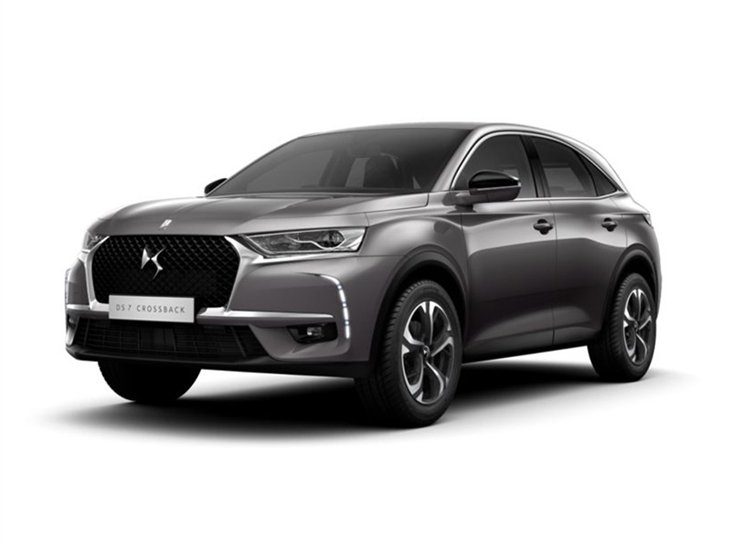 silver ds 7 elegance car on white background available to lease
