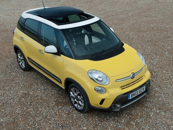Fiat 500 L Yellow Exterior Top