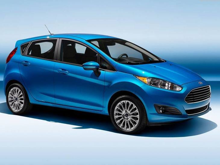 Ford Fiesta Blue Exterior Side