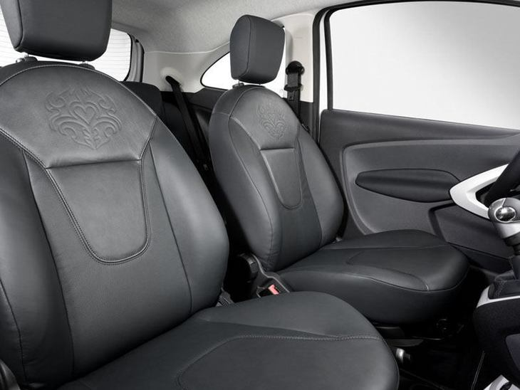 Ford Ka Black Interior2