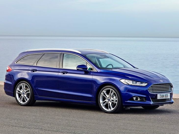 Ford Mondeo Estate Blue Exterior Side