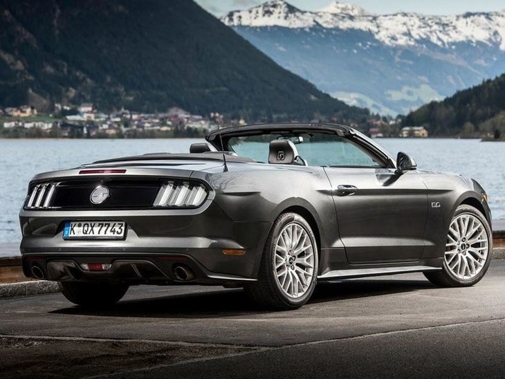 Ford Mustang Convertible Black Exterior Back