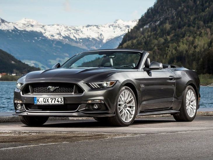 Ford Mustang Convertible Black Exterior Front