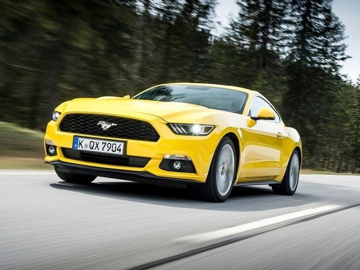 Ford Mustang Fastback Yellow Exterior Driving