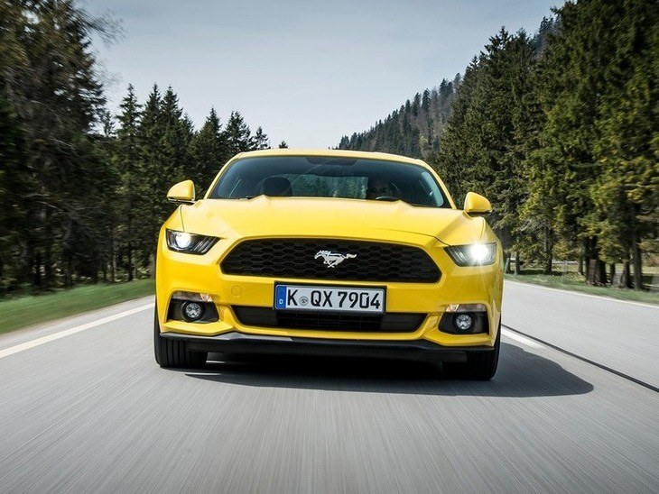 Ford Mustang Fastback Yellow Exterior Front2