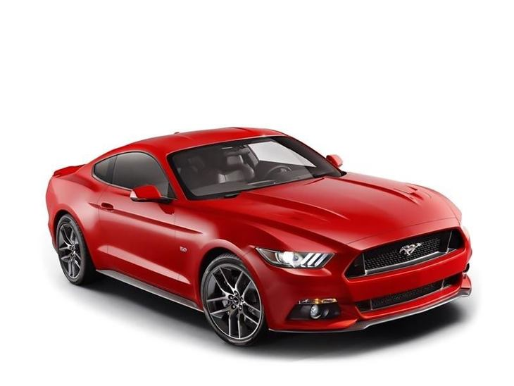 ford mustang red front
