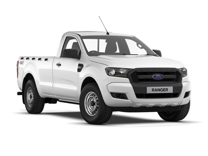 The Front of a Ford Ranger XL in White