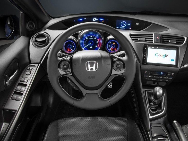 Honda Civic Black Interior Front