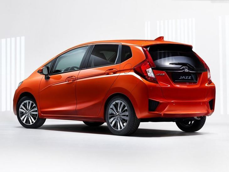 Honda Jazz Orange Exterior Back