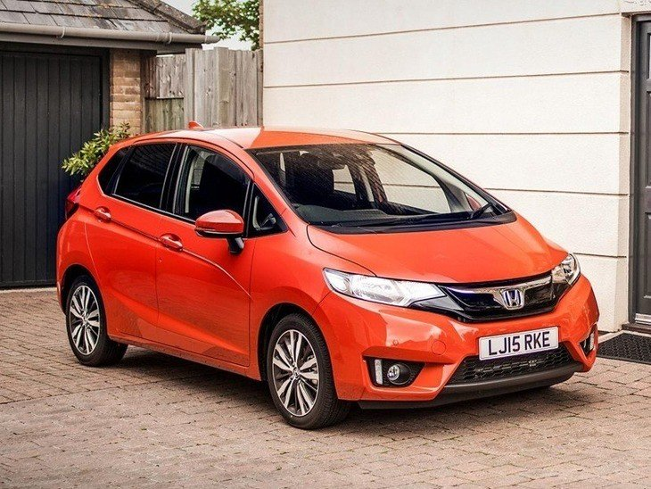 Honda Jazz Orange Exterior Front 2