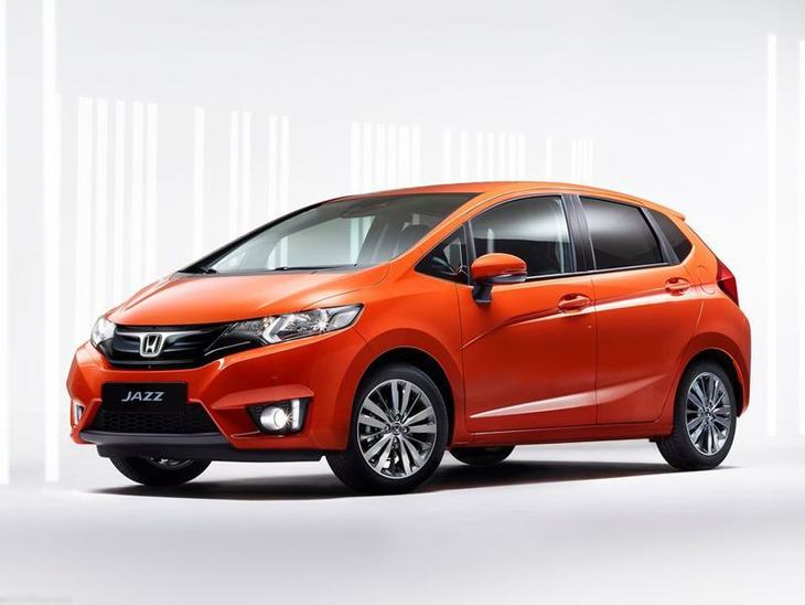 Honda Jazz Orange Exterior Front