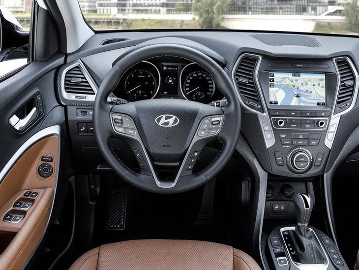 Hyundai Santa Fe New Model Black Interior