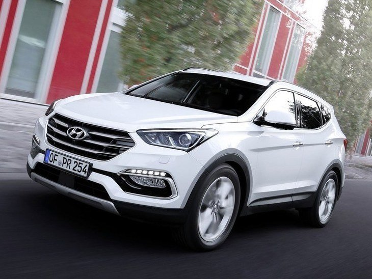 Hyundai Santa Fe New Model White Exterior Front