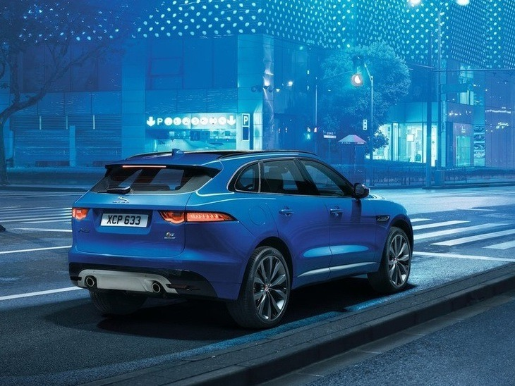 Jaguar F-PACE Blue Exterior Back