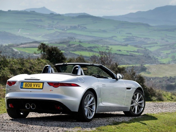 Jaguar F Type Convertible Silver Exterior Back