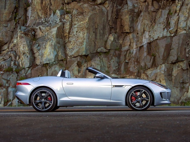 Jaguar F Type Convertible Silver Exterior Side