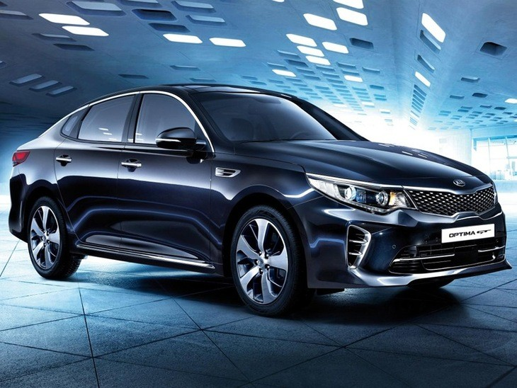 Kia Optima Exterior Blue Front