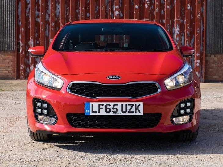 Kia Pro Ceed Red Exterior Front 3