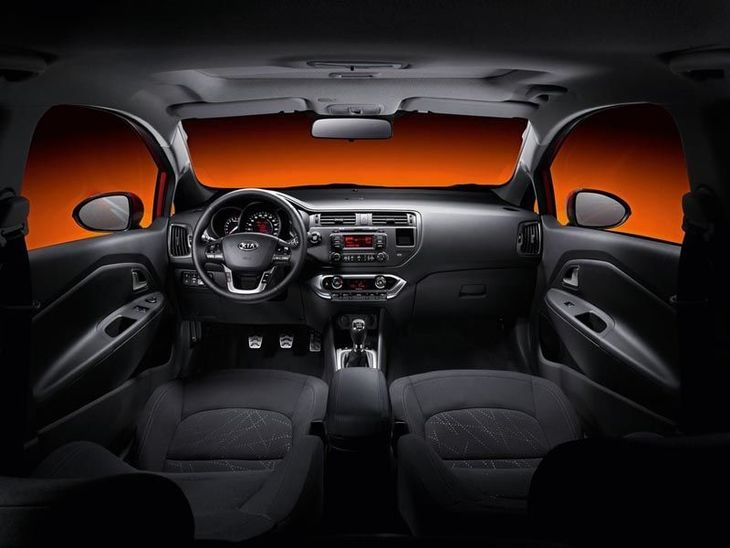 Kia Rio 3-Door Black Interior