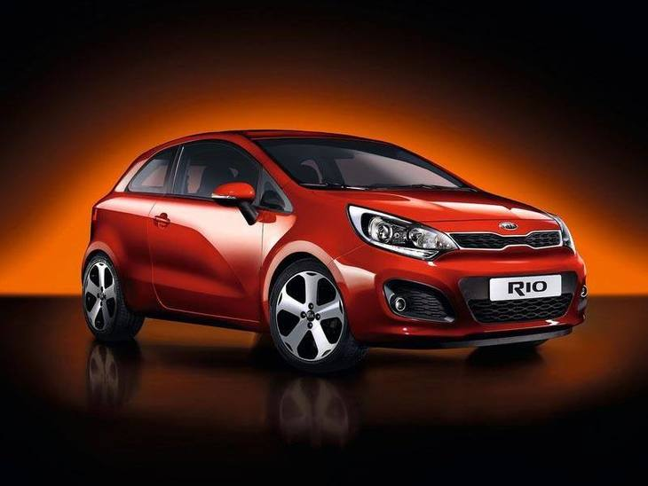 Kia Rio 3-Door Red Exterior Front