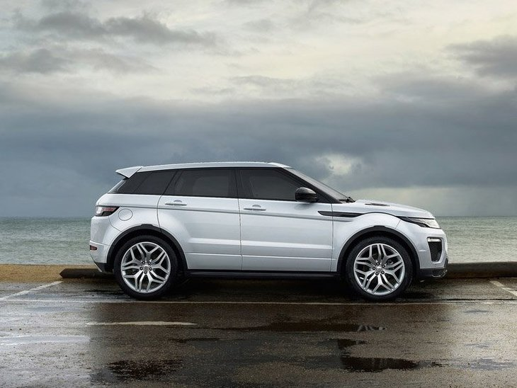 Land Rover Range Rover Evoque Coupe White Exterior Side
