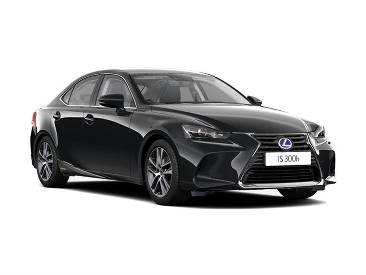 black lexus is 300h advance car on white background available to lease