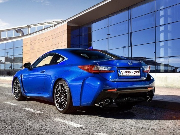 Lexus RC F Coupe Blue Exterior Back