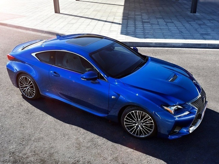 Lexus RC F Coupe Blue Exterior Top
