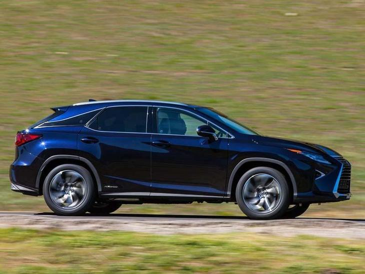 Lexus RX 450H New Model Blue Exterior Side