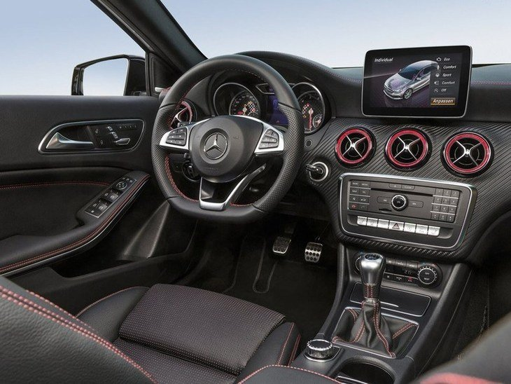 Mercedes Benz A Class Black Interior