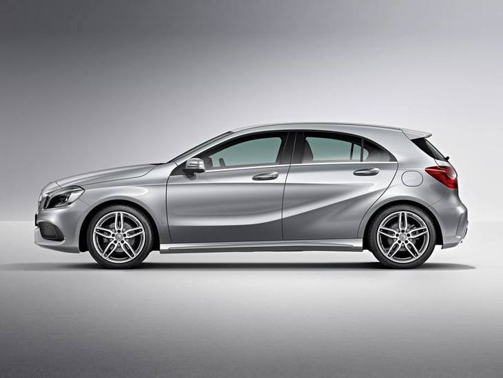 Mercedes Benz A Class Silver Side 2