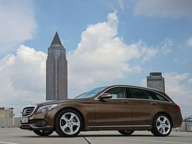 Mercedes Benz C-Class-Estate-Exterior Brown Front 2