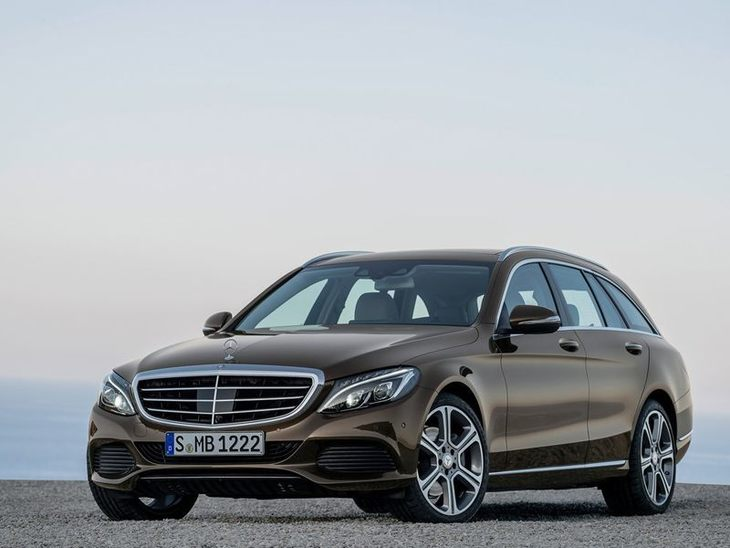 The Front of the Mercedes Benz C Class Estate in Brown