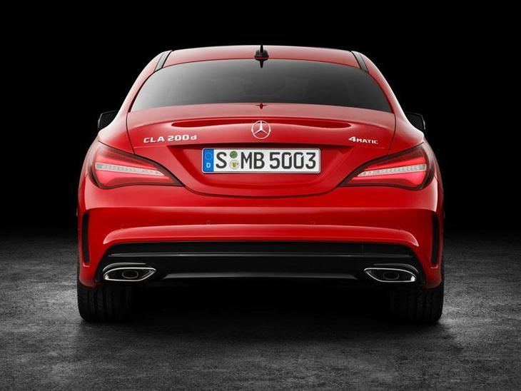 Mercedes Benz CLA Coupe New Model Red Exterior Back