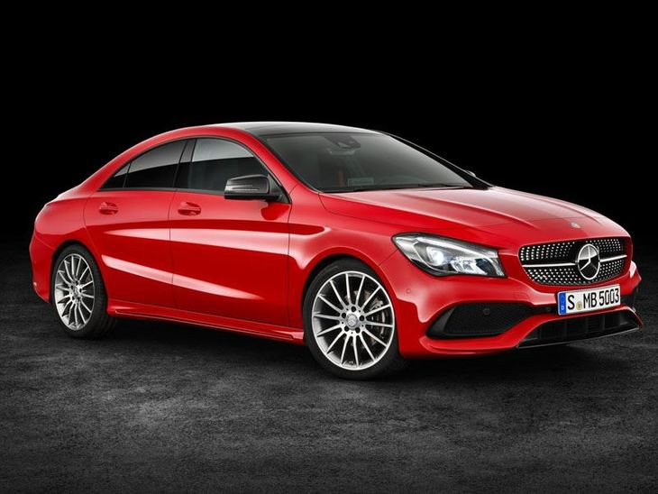 Mercedes Benz CLA Coupe New Model Red Exterior Front 2