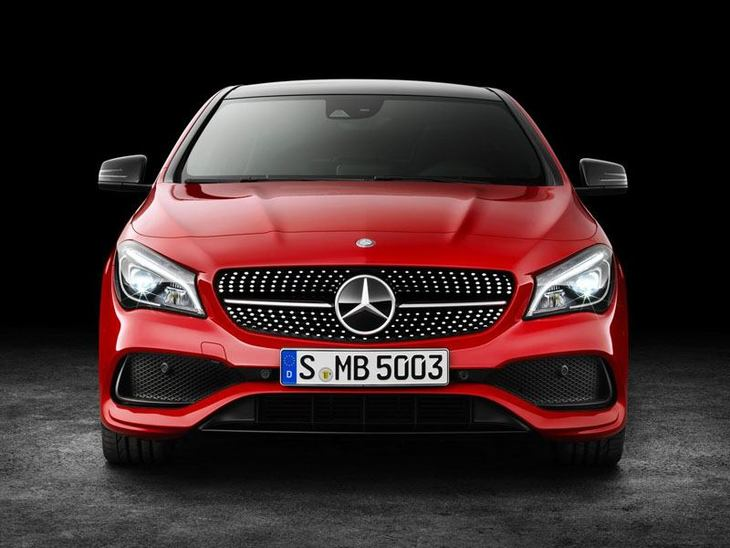 Mercedes Benz CLA Coupe New Model Red Exterior Front