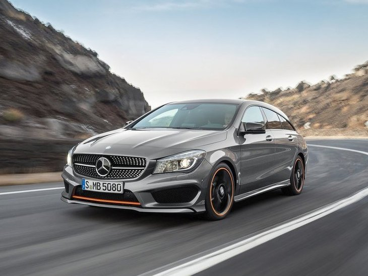 Mercedes Benz CLA Shooting Brake Exterior Silver Front 2