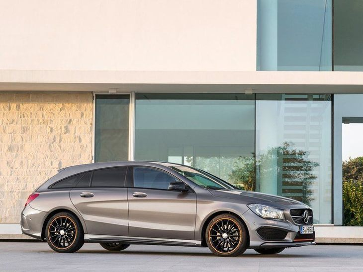 Mercedes Benz CLA Shooting Brake Exterior Silver Front