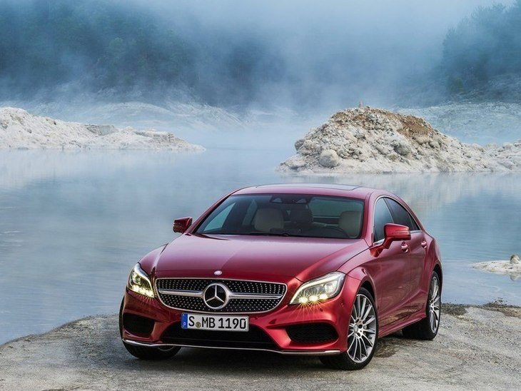 Mercedes Benz CLS Class Exterior Red Front 2