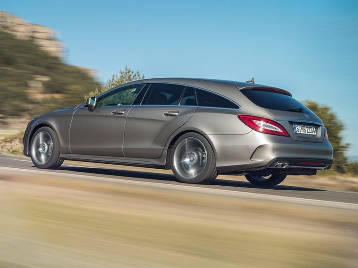 Mercedes Benz CLS Shooting Brake Silver Exterior Back