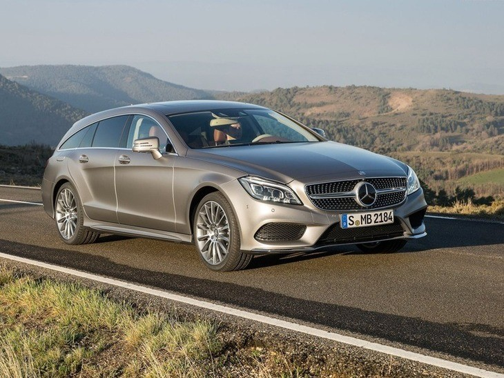 Mercedes Benz CLS Shooting Brake Silver Exterior Online