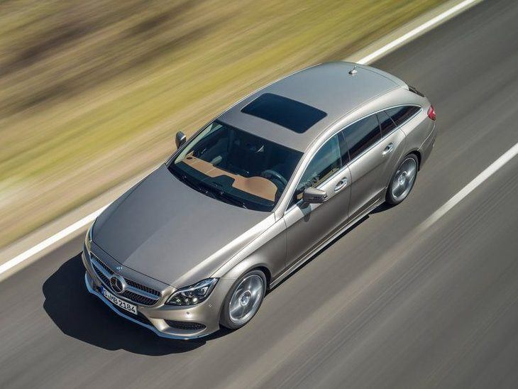 Mercedes Benz CLS Shooting Brake Silver Exterior Top