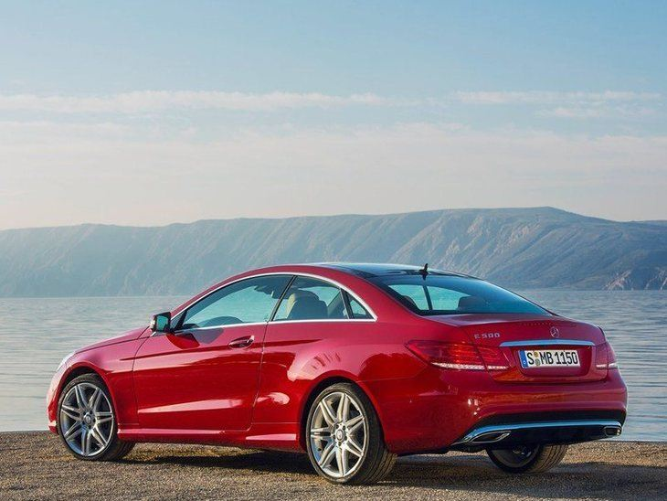 Mercedes Benz E Class Coupe Exterior Red Back