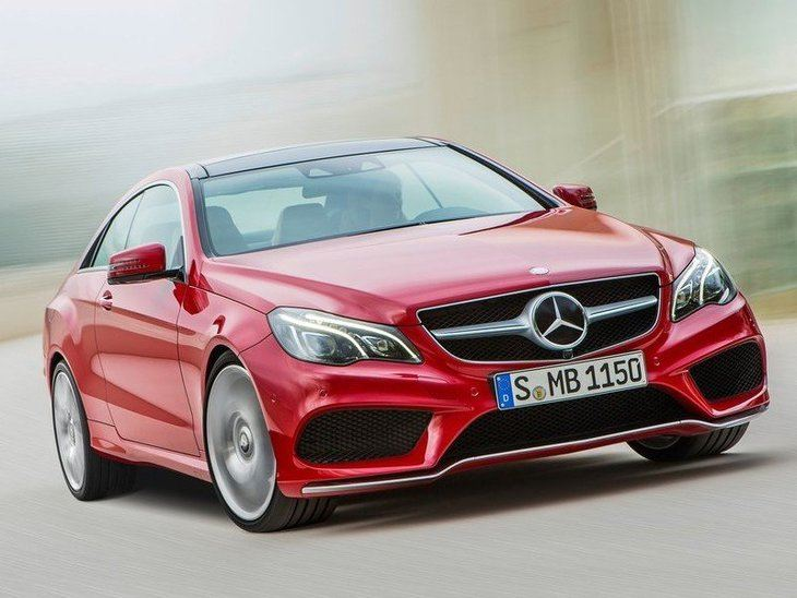 Mercedes Benz E Class Coupe Exterior Red front 2