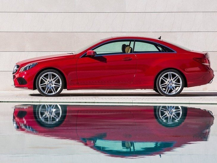 Mercedes Benz E Class Coupe Exterior Red Side