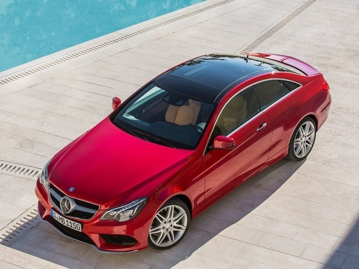 Mercedes Benz E Class Coupe Exterior Red top