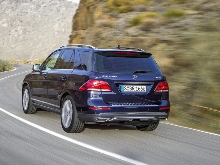 Mercedes Benz GLE Blue Exterior Back