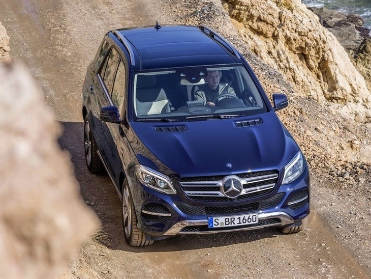 Mercedes Benz GLE Blue Exterior Top